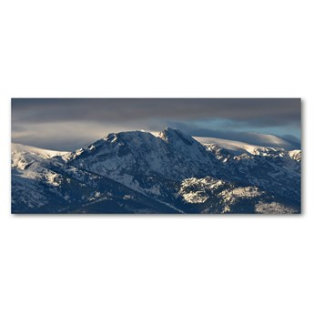 Foto obraz szkło akryl Giewont zimą