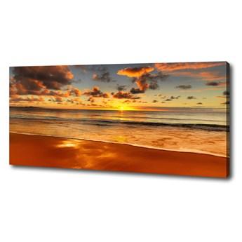 Foto obraz na płótnie Zachód słońca plaża