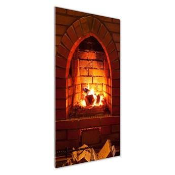 Foto obraz na szkle Ogień w kominku