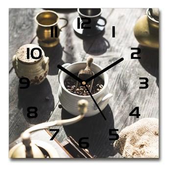 Zegar szklany kwadratowy Młynek do kawy