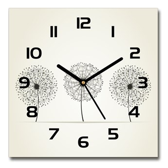 Zegar szklany kwadratowy Dmuchawce