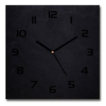 Zegar szklany kwadratowy Czarna tablica