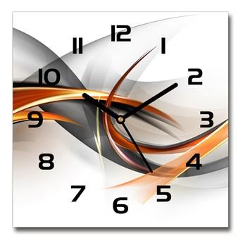 Zegar szklany na ścianę Abstrakcja fale