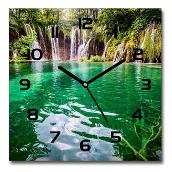 Zegar szklany kwadratowy Jezioro Plitwickie