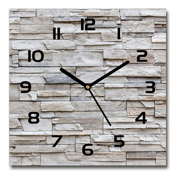 Zegar szklany na ścianę Kamienna ściana