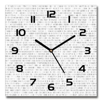 Zegar szklany na ścianę Kod binarny