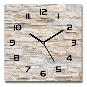 Zegar szklany na ścianę Ceglana ściana