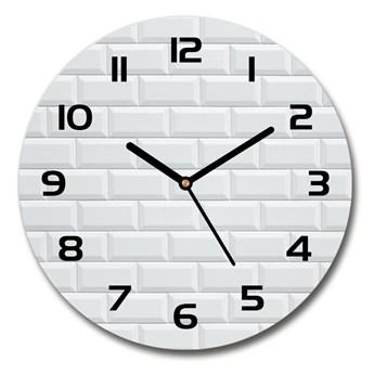 Zegar szklany okrągły Ceramiczna ściana