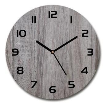 Zegar ścienny szklany okrągły Drewno
