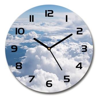 Zegar szklany okrągły Widok z samolotu