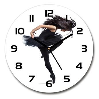Zegar szklany okrągły Baletnica