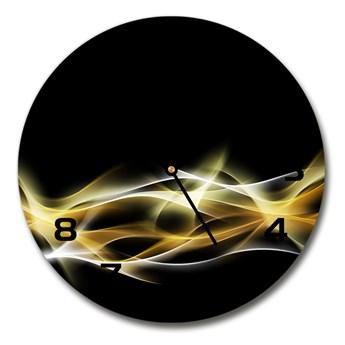 Zegar szklany na ścianę Abstrakcja światła