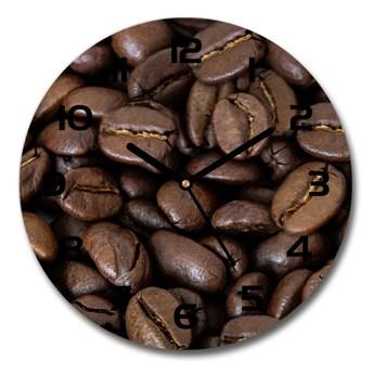 Zegar szklany na ścianę Ziarna kawy