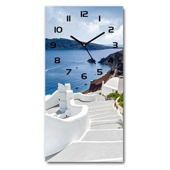 Zegar ścienny cichy Santorini Grecja