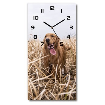 Zegar ścienny cichy Golden retriever