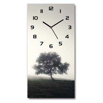 Zegar szklany ścienny Drzewo we mgle