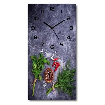 Zegar ścienny Zioła i przyprawy
