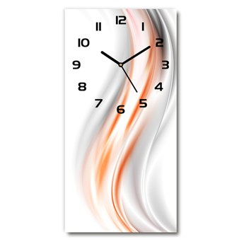 Zegar ścienny cichy Abstrakcja fale