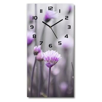 Zegar ścienny Kwiaty szczypiorku