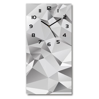 Zegar szklany ścienny Abstrakcja 3D