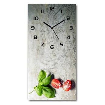 Zegar ścienny Pomidory i bazylia