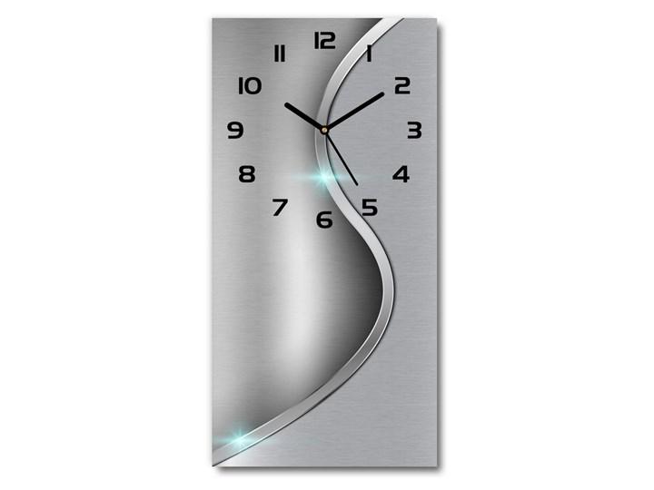 Zegar ścienny Metalowa abstrakcja Budzik Prostokątny Tworzywo sztuczne Pomieszczenie Salon