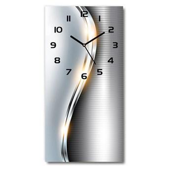 Zegar ścienny Metalowa abstrakcja