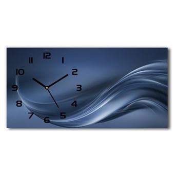Nowoczesny zegar ścienny szklany Szara fala
