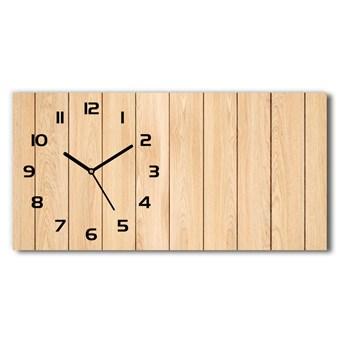 Zegar ścienny szklany cichy Drewniane tło