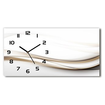 Zegar ścienny szklany Abstrakcja fale