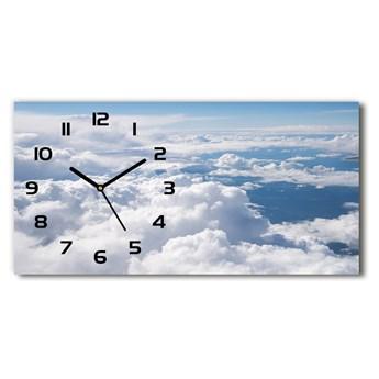 Zegar ścienny szklany Widok z samolotu