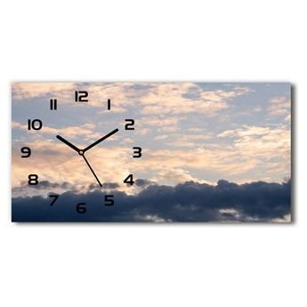 Zegar ścienny szklany Chmury na niebie