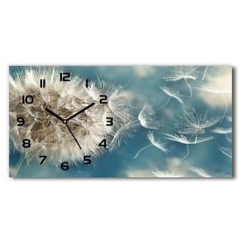 Nowoczesny zegar ścienny szklany Dmuchawce