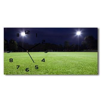 Zegar ścienny szklany Murawa piłkarska