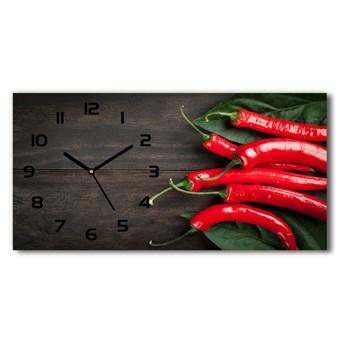 Zegar ścienny szklany Papryczki chilli