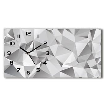 Zegar ścienny szklany cichy Abstrakcja 3D