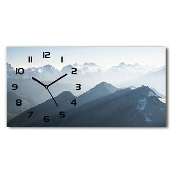 Zegar ścienny szklany Górskie szczyty