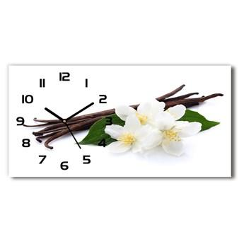 Zegar ścienny szklany Jaśmin i wanilia
