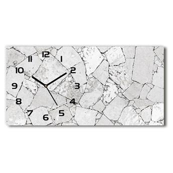 Zegar ścienny szklany Kamienna ściana
