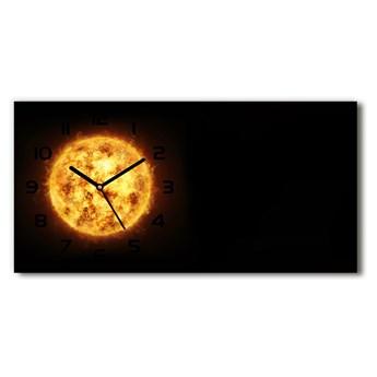 Nowoczesny zegar ścienny szklany Słońce