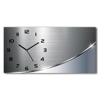 Zegar ścienny szklany Metalowa abstrakcja