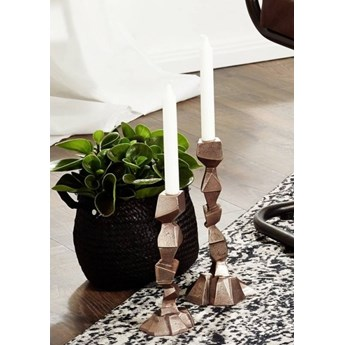 DEKO Rzeźba, świecznik #024 Aluminium 23 cm