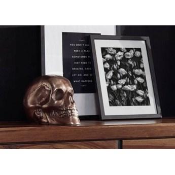 DEKO Rzeźba, czaszka #033 Aluminium