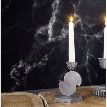 DEKO Rzeźba, świecznik #175 Aluminium
