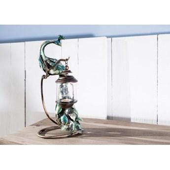 DEKO Rzeźba, świecznik #1003 Metal + szkło