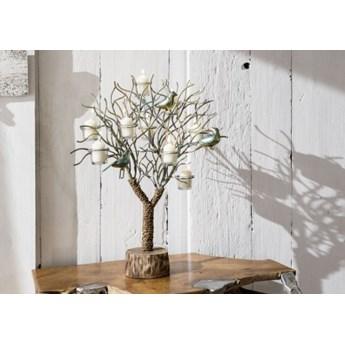 DEKO Rzeźba, świecznik #1005 Drewno + metal