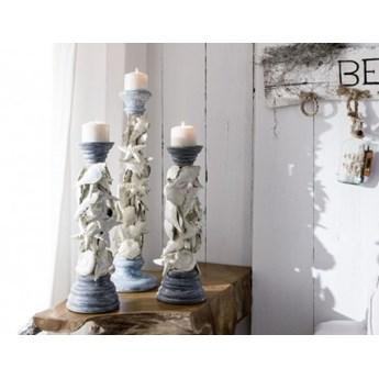 DEKO Rzeźba, świecznik #1012 Drewno + metal