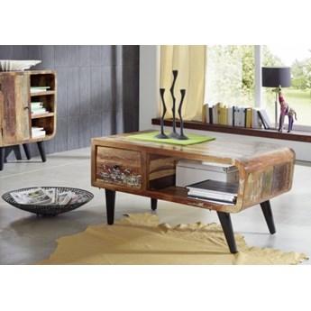 SIXTIES Ława #106 Drewno z odzysku lakierowane + metal