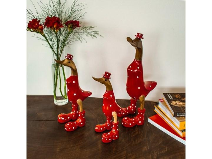Kaczka FLY-BANE My Love Bali Small Ptaki Zwierzęta Drewno Kategoria Figury i rzeźby Kolor Czerwony