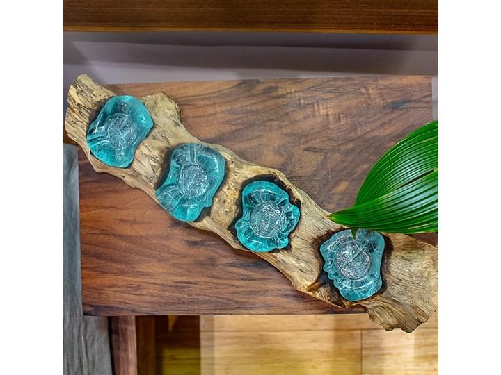 Drewniany świecznik Lilin, My love Bali Drewno Szkło Kategoria Świeczniki i świece Kolor Brązowy